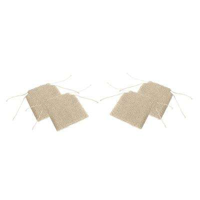 Franconia Boho Beige Knitted Cotton Chair Pads (Set of 4)