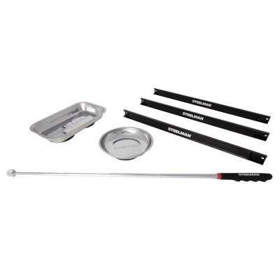 6 in. Magnetic Parts Bowl Accessory Holder and Pickup Tool Combo Pack