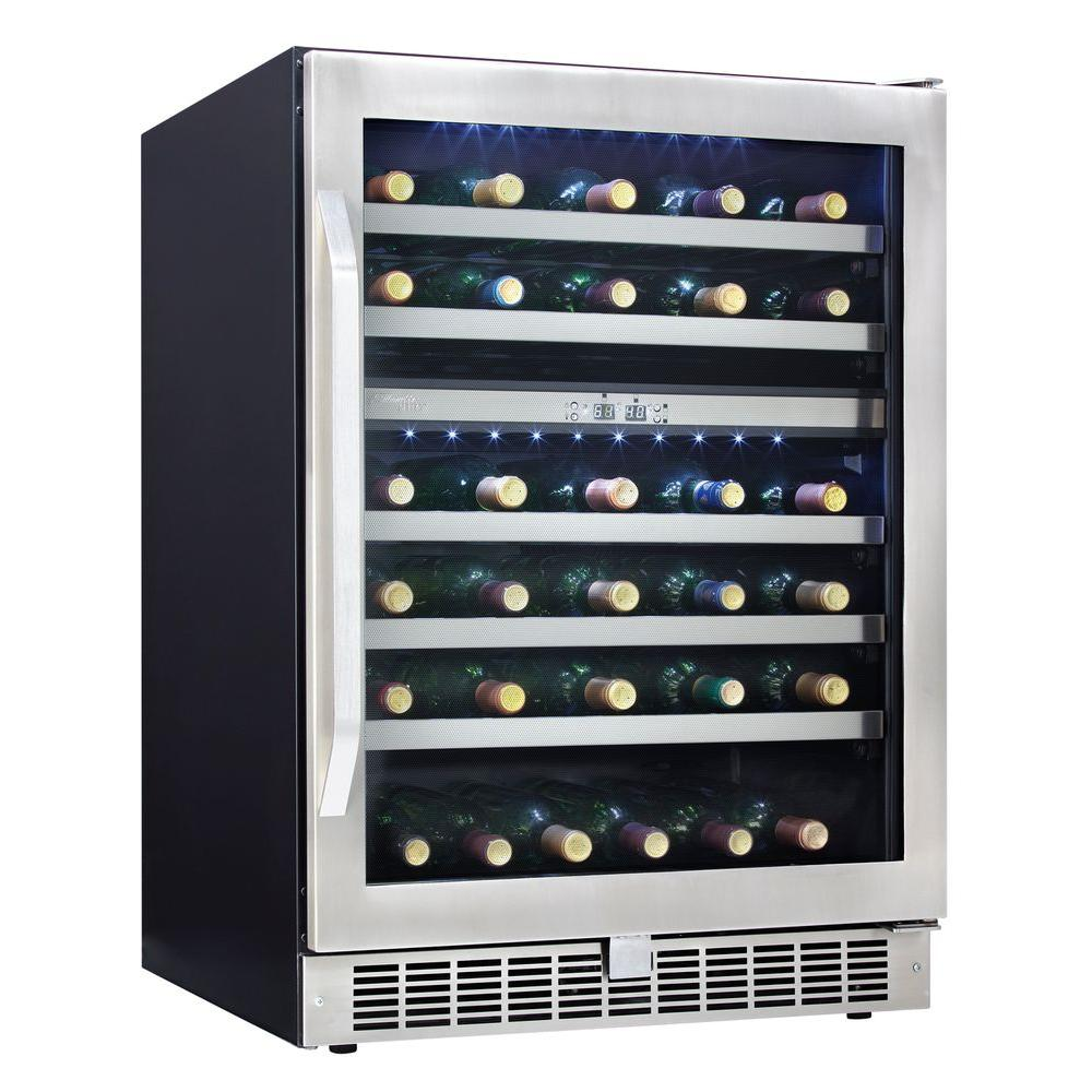 Danby Silhouette Select 24 in. 51-Bottle Wine Cooler with Two Temperature Zones-DISCONTINUED