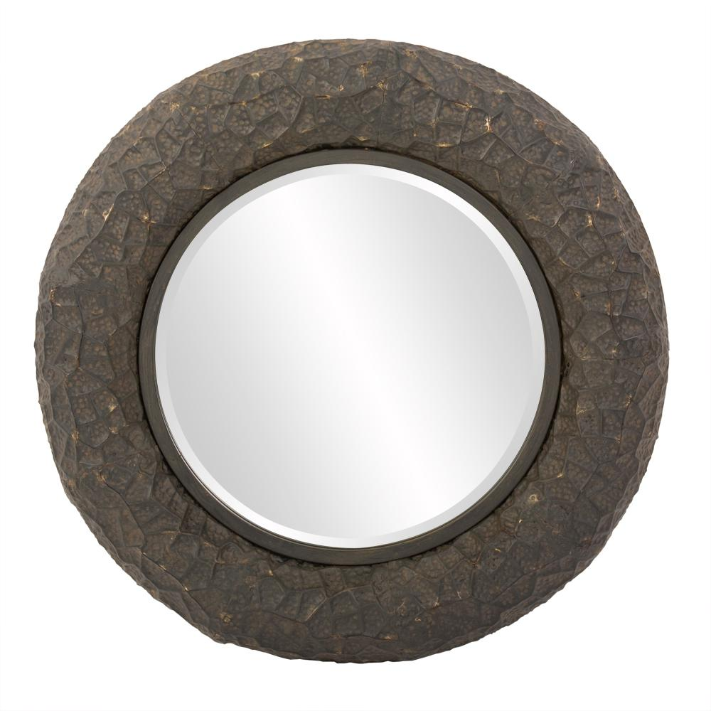 null 33 in. x 21 in. Metal Framed Mirror in Copper