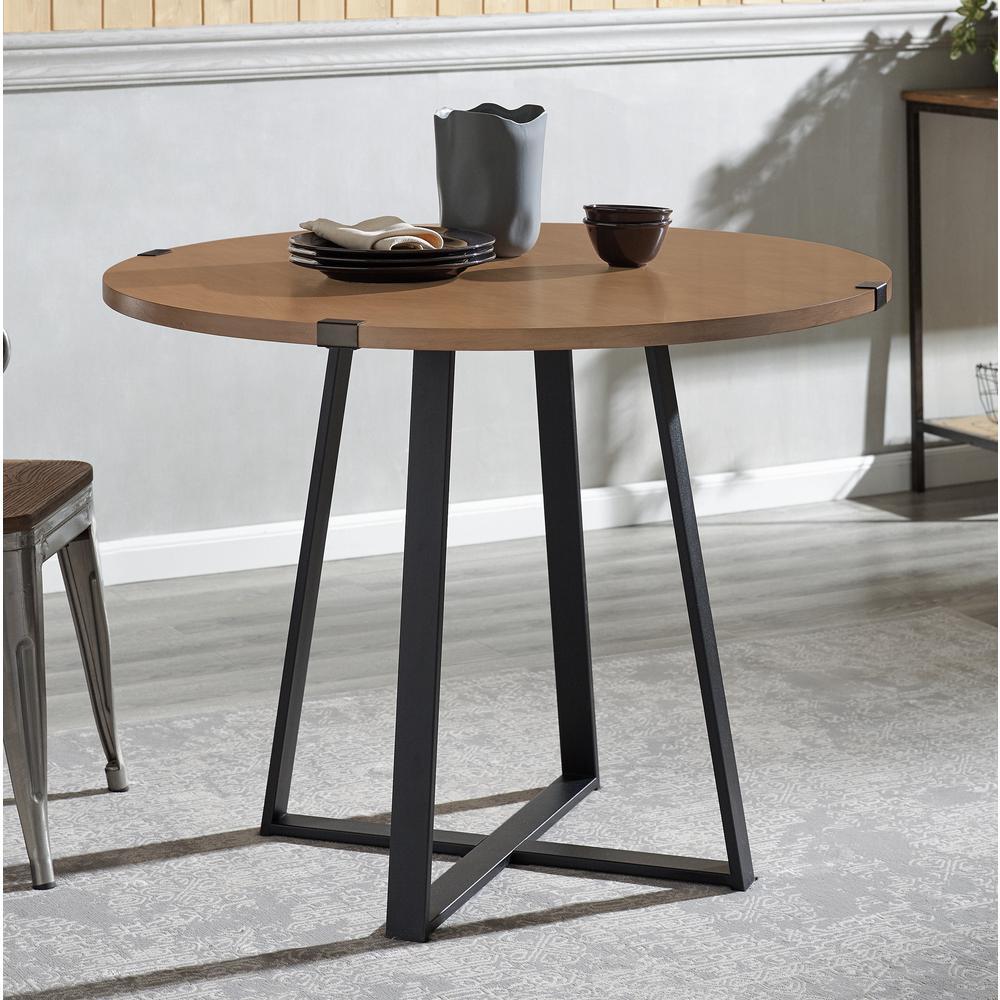 walker edison furniture company 40 in rustic round