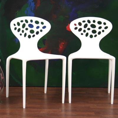 Durante White Finished Plastic Dining Chairs (Set of 2)
