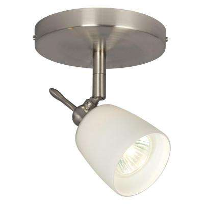 Negron 1-Light Brushed Nickel Track Head Spotlight with Directional Head