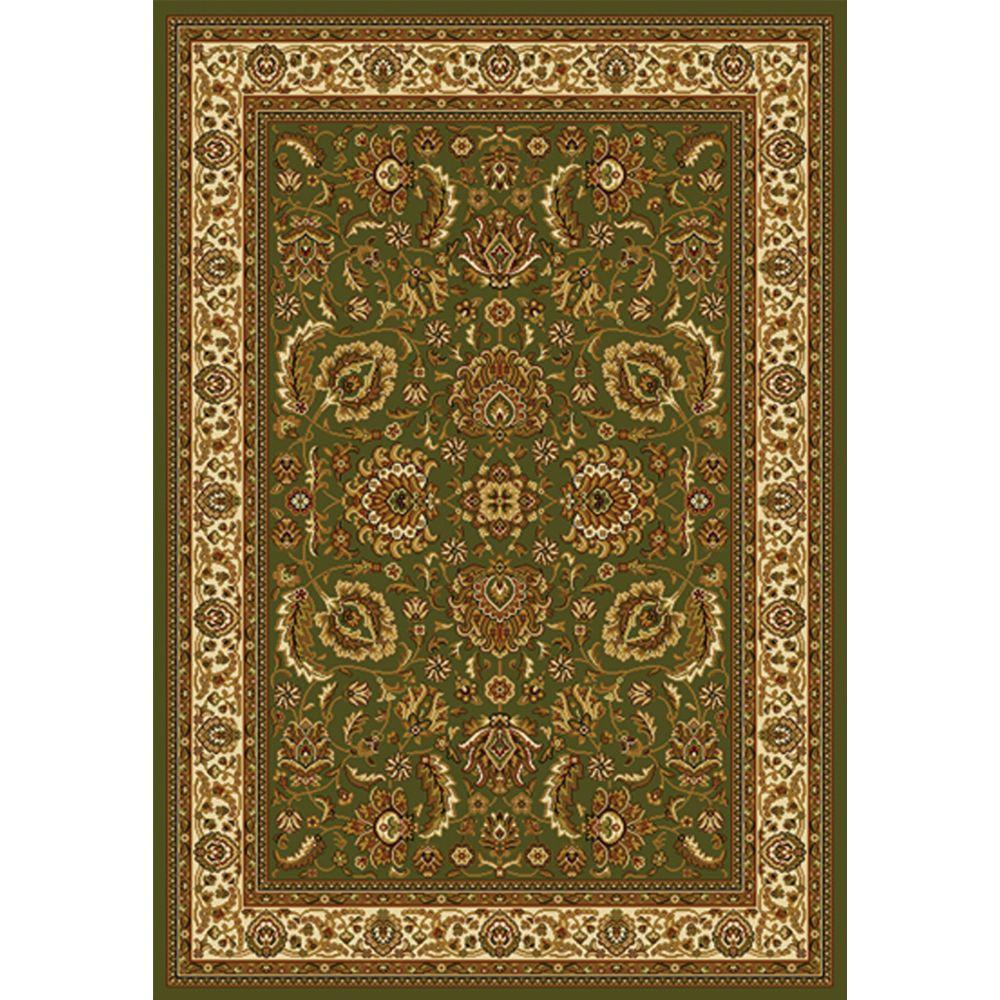 Royalty Green/Ivory 5 ft. 2 in. x 7 ft. 2 in.