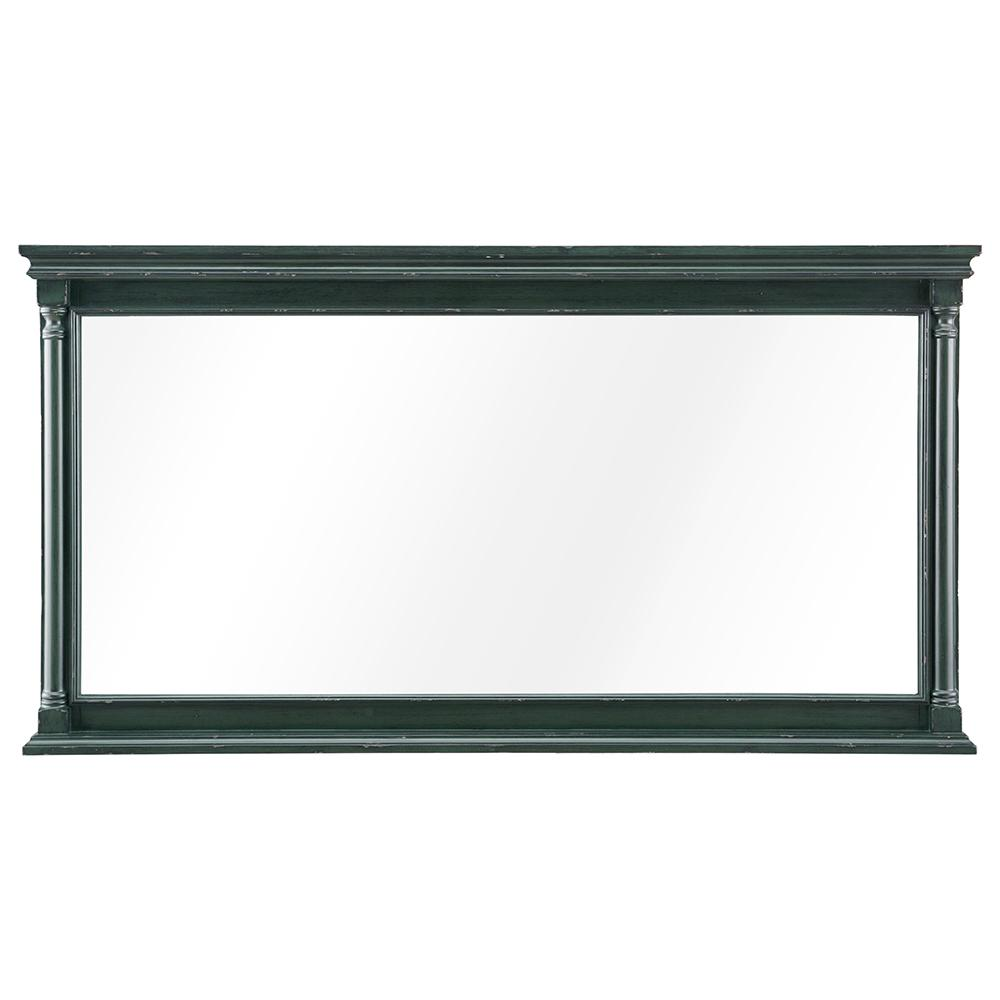 Home Decorators Collection Greenbrook 60 in. W x 32 in. H Framed Wall Mirror in Vintage Forest Green
