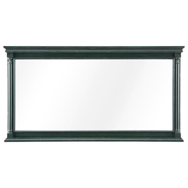Greenbrook 60 in. W x 32 in. H Framed Wall Mirror in Vintage Forest Green