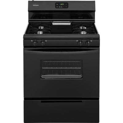 30 in. 4.2 cu. ft. Gas Range in Black