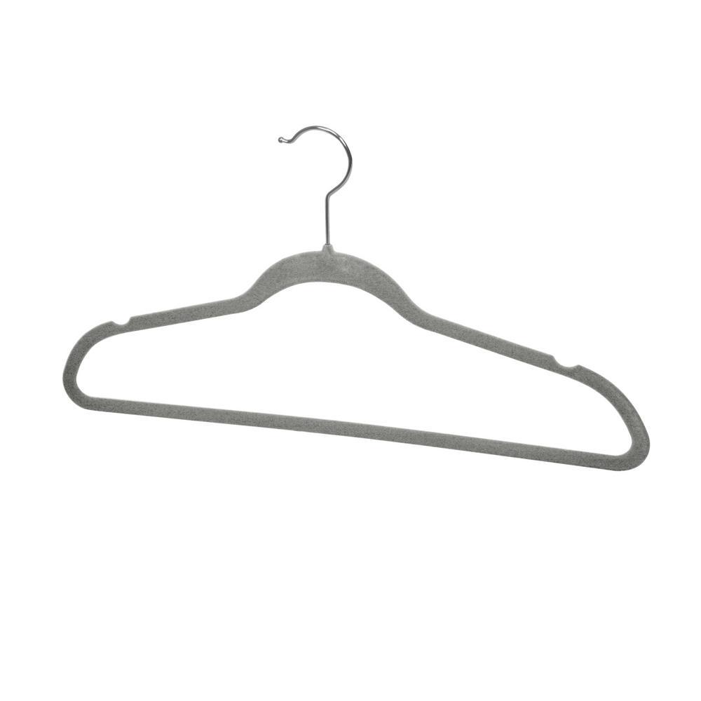 Sunbeam Grey Velvet Hanger (10-Pack)