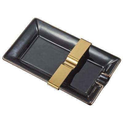 Owen Black Ceramic Cigar Tray