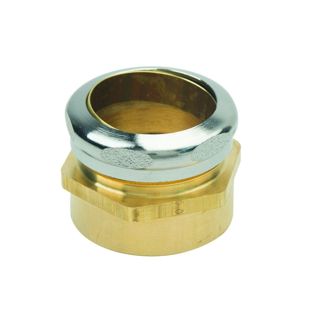 1-1/2 in. O.D. Compression x 1-1/2 in. FIP Brass Waste Connector