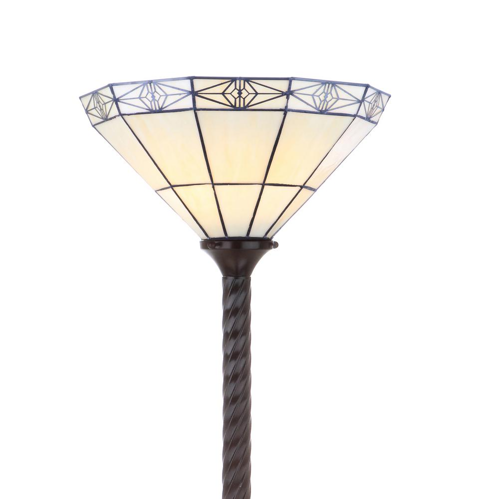 Moore Tiffany Style 68 57 In Bronze Torchiere Floor Lamp