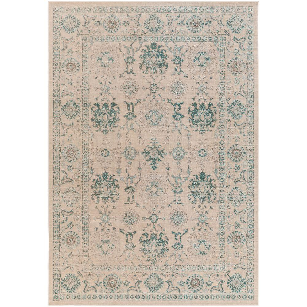 Nyss Teal 3 ft. x 5 ft. Indoor Area Rug