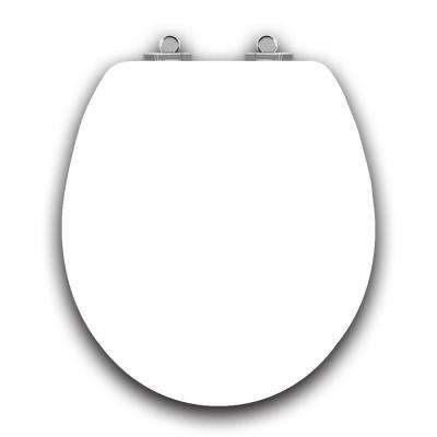 Art of Acryl White Slow Close Round Closed Front Toilet Seat in White