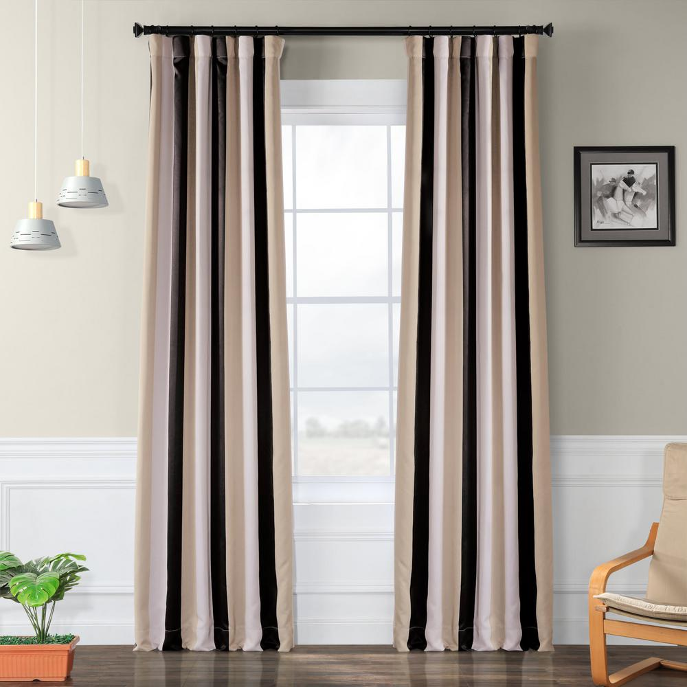Exclusive Fabrics & Furnishings Semi-Opaque Georgetown Blackout Curtain - 50 in. W x 120 in. L (Panel)