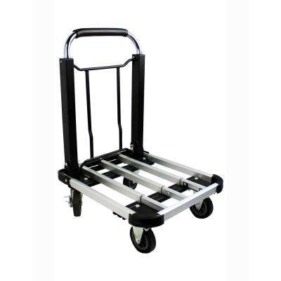 Aluminum Folding Truck/Dolly 330 lbs. Capacity with Adjustable Platform and Telescoping Handle
