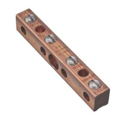 Intersystem Bonding Termination Copper Ground Bar (Case of 10)