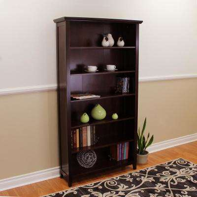 Lindendale 6-Shelf Espresso Bookcase