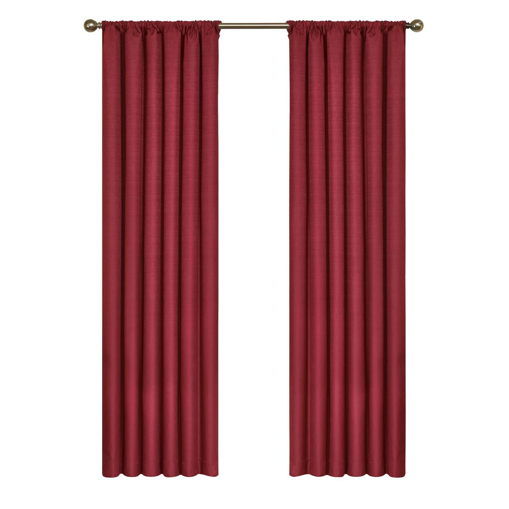 Eclipse Kendall Blackout Ruby Curtain Panel 95 In Length