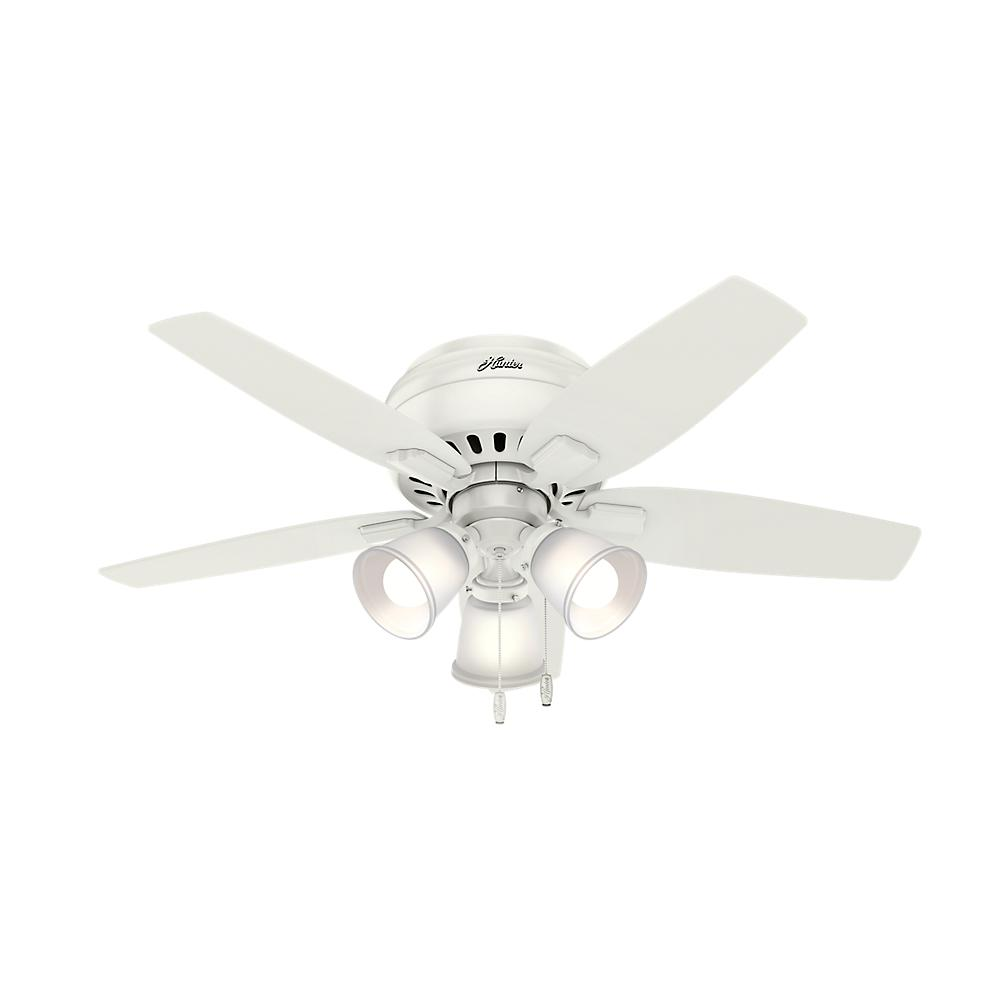 Hunter Echo Bluff 42 in. LED Indoor Fresh White Ceiling Fan with Light Kit