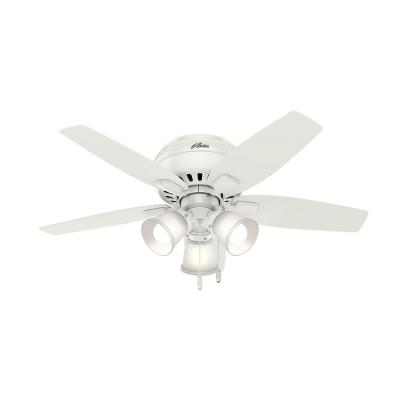 Echo Bluff 42 in. LED Indoor Fresh White Ceiling Fan with Light Kit