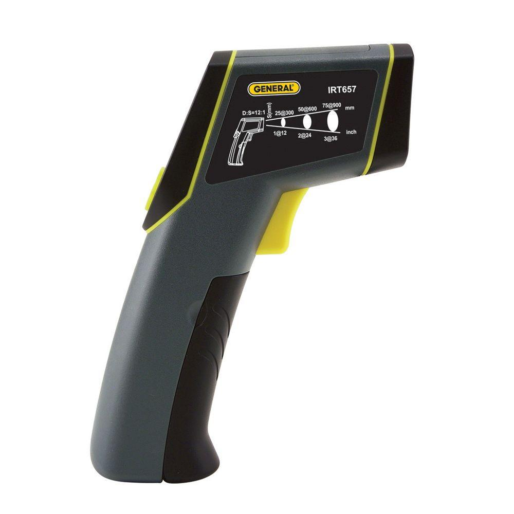 Laser Temperature Non-Contact Infrared Thermometer with 12:1 Spot Ratio, Maximum