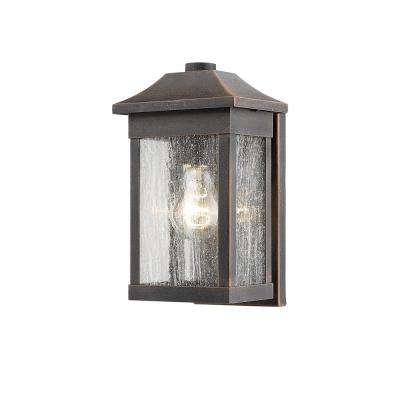 1-Light Rust Outdoor Wall Mount Sconce