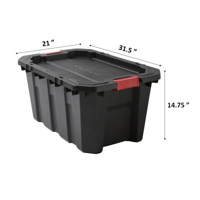 25 Gal. Latch and Stack Tote in Black