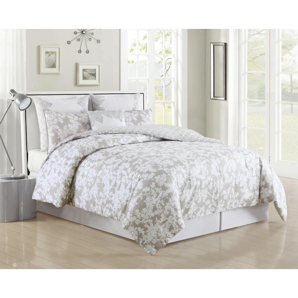 Ainna 6-Piece Taupe Queen Comforter Set