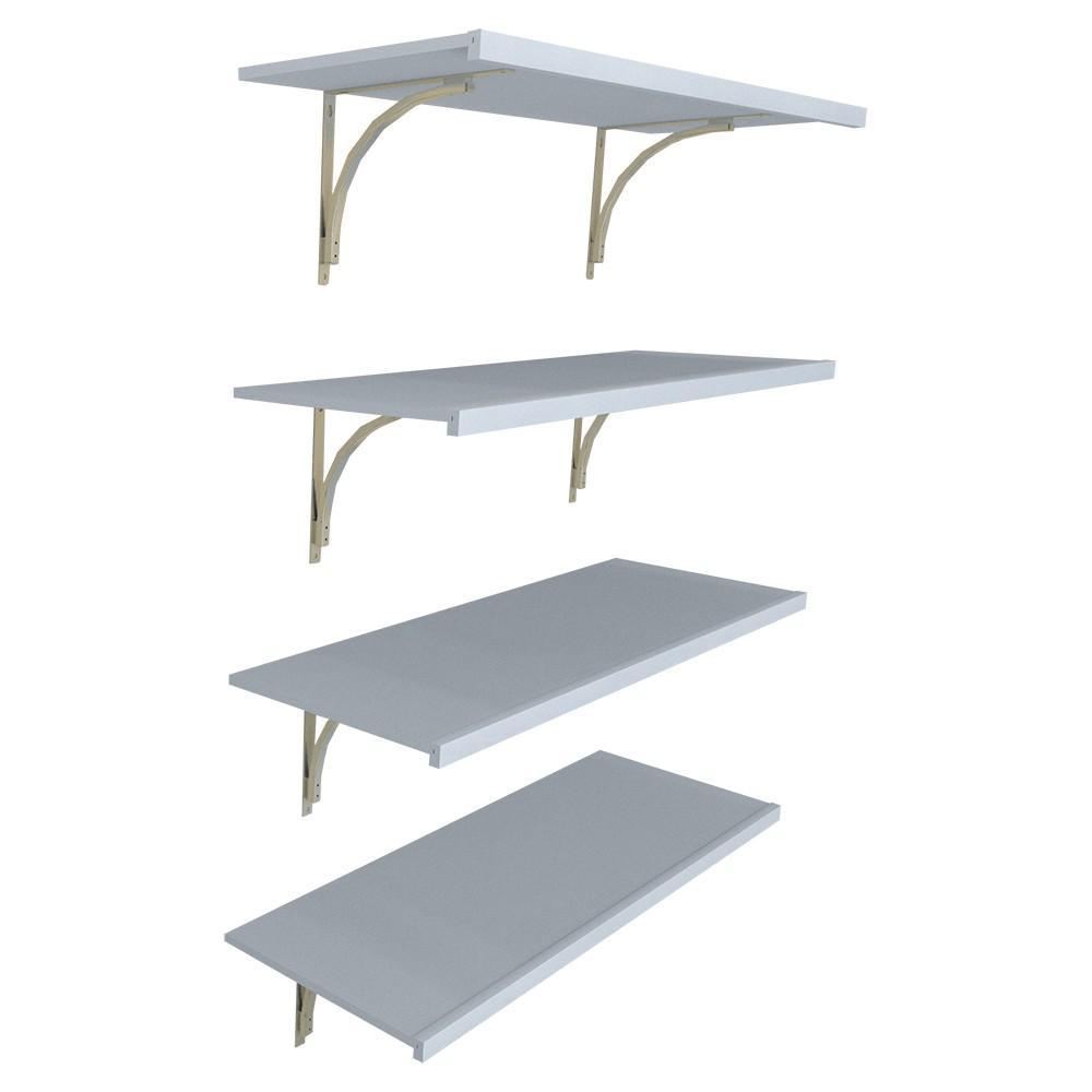 16 in. D x 48 in. W x 84 in. H White Wood Solid Wall Mount Pantry Closet Kit