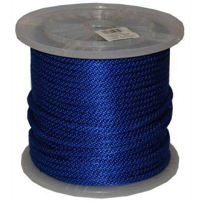 3/8 in. x 300 ft. Solid Braid Multi-Filament Polypropylene Derby Rope in Blue