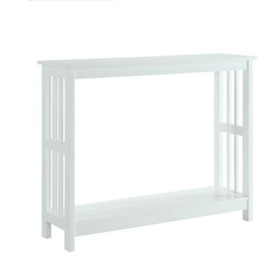 Mission White Console Table