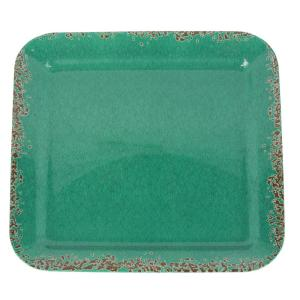 Mauna Green Crackle Decal Melamine Serving Tray