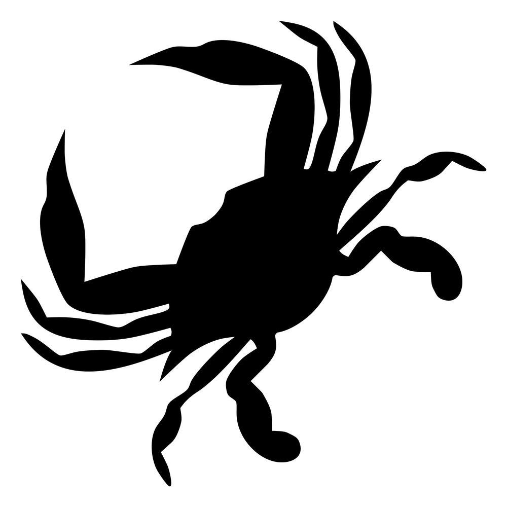 Contemporary Crab Stencil (10 mil Plastic)
