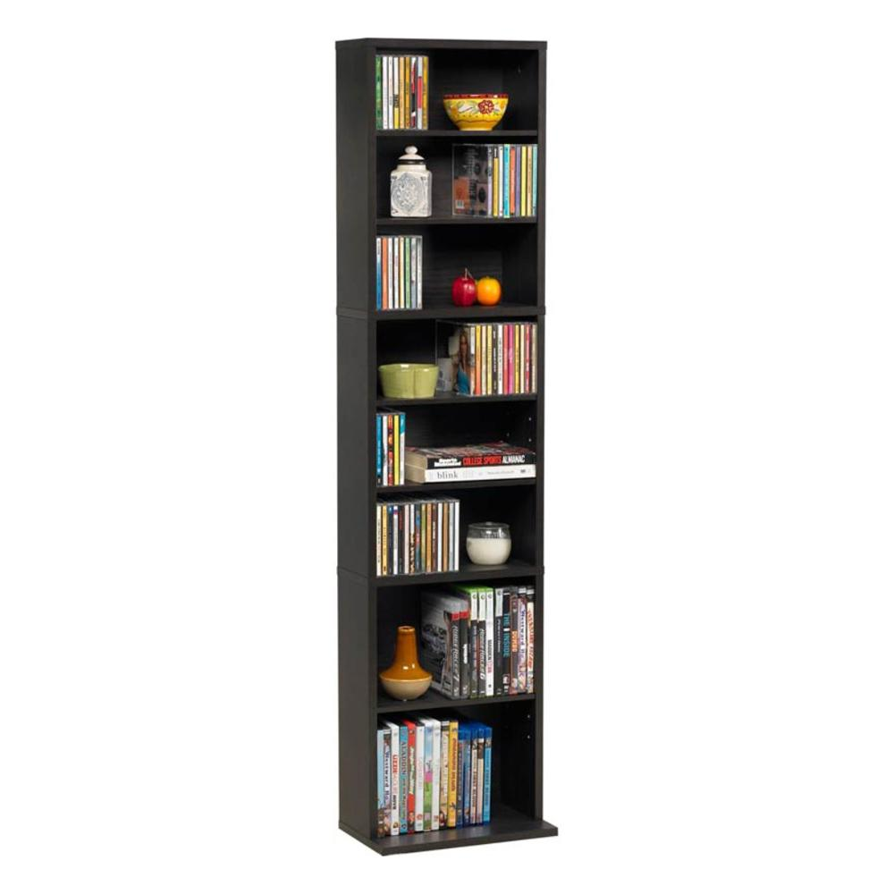 Atlantic Summit Espresso (Brown) Media Storage Atlantic, Inc. 74735727 Designed for small spaces, the elegant espresso finished Summit helps you organize your collection of movies and music. This media cabinet features a durable frame with a wall anchor kit to prevent tip. It has a wide base for added additional stability.