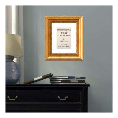 Townhouse 5 in. x 7 in. White Matted Gold Picture Frame