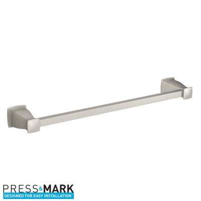 Hensley 24 in. Towel Bar with Press and Mark in Brushed Nickel