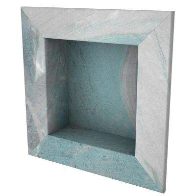 11 in. x 11 in. Square Recessed Shampoo Caddy in Triton