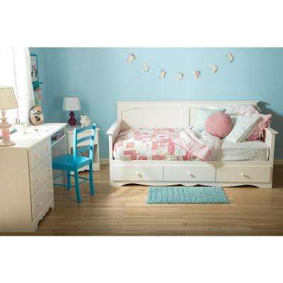 Summer Breeze White Wash Storage Daybed
