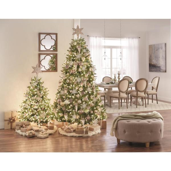 Home Accents Holiday 4 5 Ft Dunhill Fir Pre Lit Artificial Christmas Tree With 450 Clear Mini Lights Duh3 45lo The Home Depot