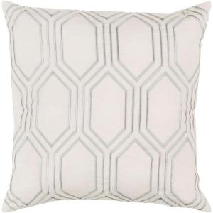 Artistic Weavers Avalon Ivory Geometric 18 inch x 18 inch Decorative Pillow by Artistic Weavers
