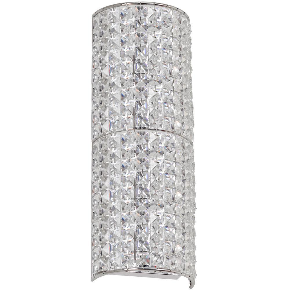 3-Light Polished Chrome Wall Sconce