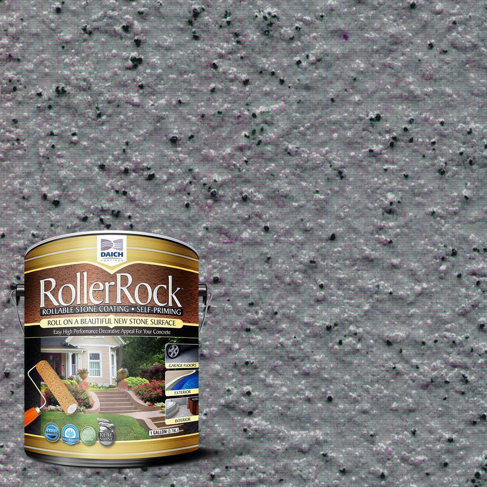 Daich rollerrock 1 gal self priming lavarock gray - Exterior textured paint home depot ...