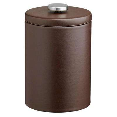 Contempo 2 Qt. Brown Tall Ice Bucket with Thick Vinyl Lid