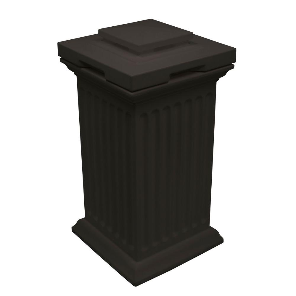 Black Column Trash Can And Storage Bin