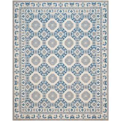 Patina Blue/Ivory 9 ft. x 12 ft. Area Rug