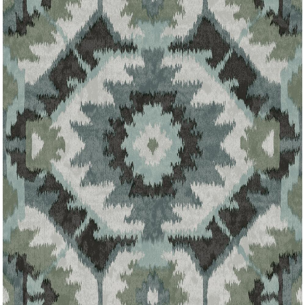 Kazac Turquoise Shibori Paper Strippable Roll (Covers 56.4 sq. ft.)