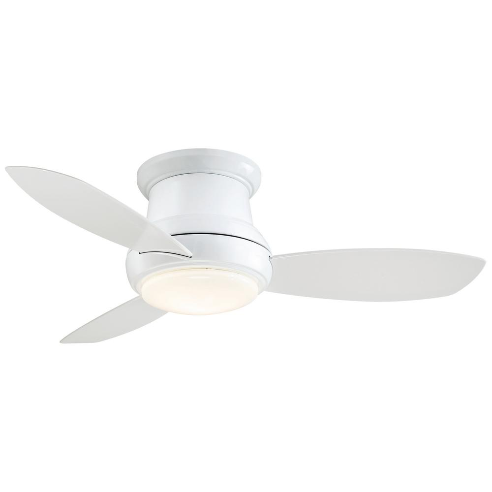 Minka-Aire Concept II 44 in. Integrated LED Indoor White Ceiling Fan with Light with Remote Control