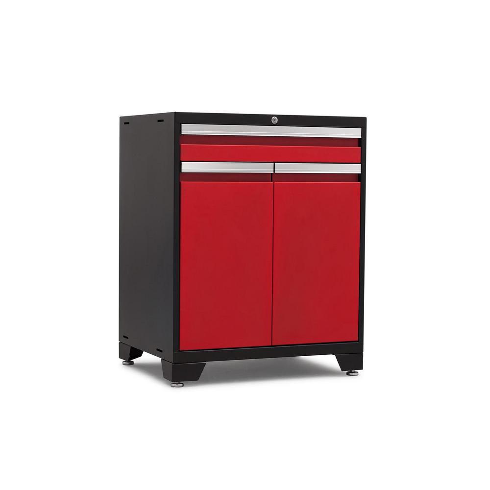 Pro 3.0 Series 28 in. W x 35.5 in. H x 22 in. D 18-Gauge Welded Steel Multifunction Cabinet in Red