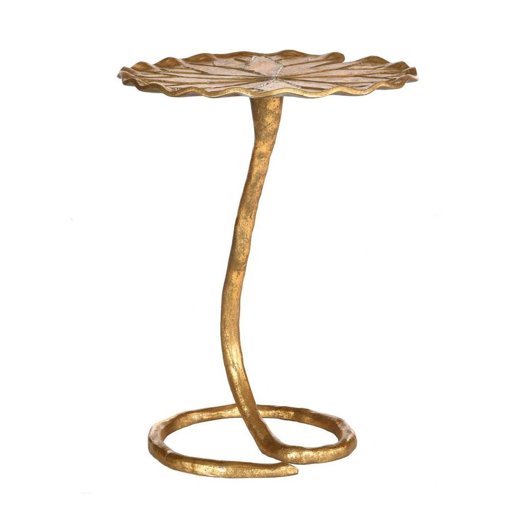 side table gold small milla