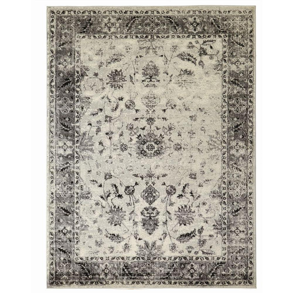 Superbe Home Decorators Collection Old Treasures Gray 8 Ft. X 10 Ft. Area Rug